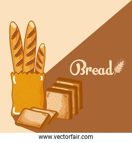 Breads delicious and fresh
