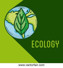 Ecology green world concept