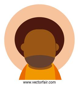 Afro grandfather avatar