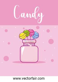 Candy snack concept