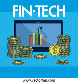 Financial Technolgoy concept
