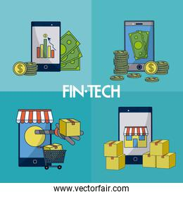 Financial technology square frames