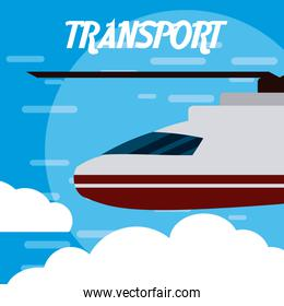 Helicopter aircraft transport