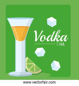 Vodka drink concept