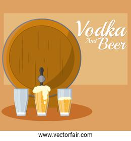 Vodka and beer