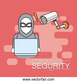 Cyber security emblem