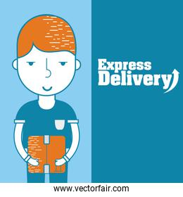 Express delivery cartoon
