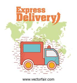 Express delivery concept