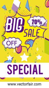 Big sale shopping banner and poster