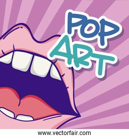 Pop art cartoons