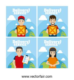 Delivery service cards