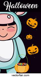 Halloween kid cartoon
