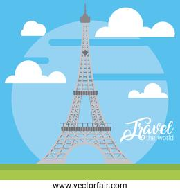Travel the world card