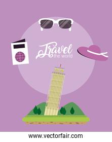 Travel the world concept
