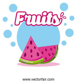 Watermelons Fresh and delicious fruit
