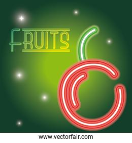 Fruits neon sign
