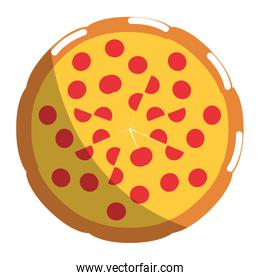 Isolated pizza design