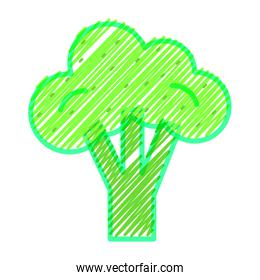 Isolated broccoli design