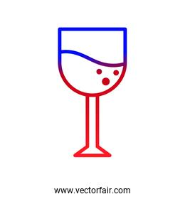 Isolated wine cup design