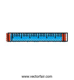 Isolated ruler design