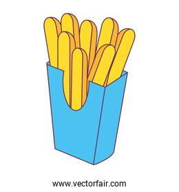 Isolated french fries design