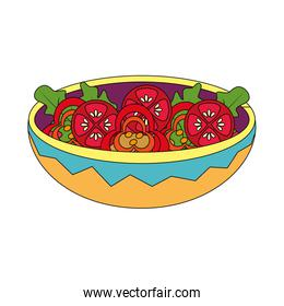 Isolated salad design