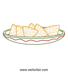 Isolated nachos design