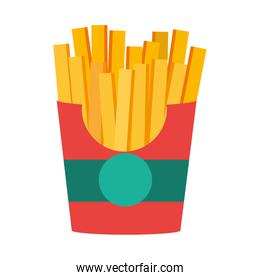 Isolated fries design