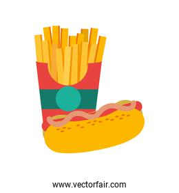 Fries and hot dog design