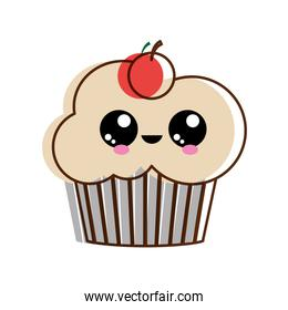 Isolated cupcake design