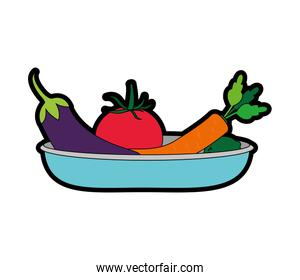 Isolated vegetables design