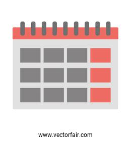 Isolated calendar design