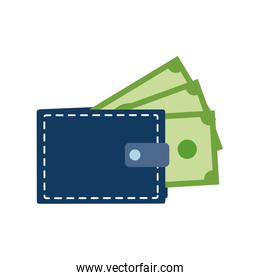Isolated wallet illustration