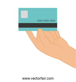Isolated credit card design