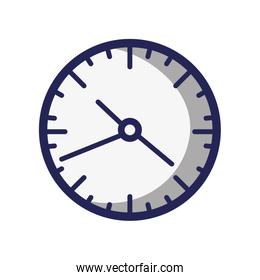 wall round clock time object