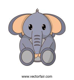 elephant cute wild animal character