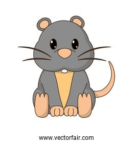 mouse cute wild animal character
