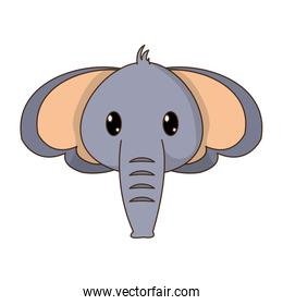 elephant head cute animal character