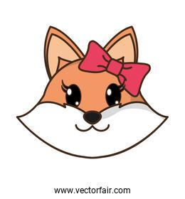 female fox head cute animal