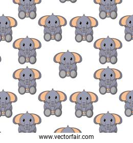 elephant cute wild animal character background