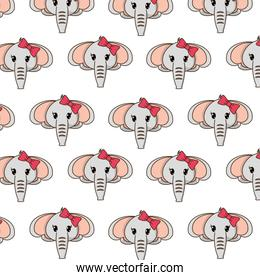 female elephant head cute animal background