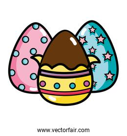 chocolate eggs easter decorations design