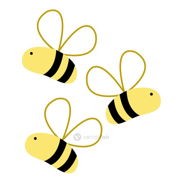 colorful cute bees insect animal flying