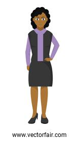woman with elegant clothes and hairstyle design