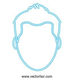 neon line avatar man with faceless and hairstyle design