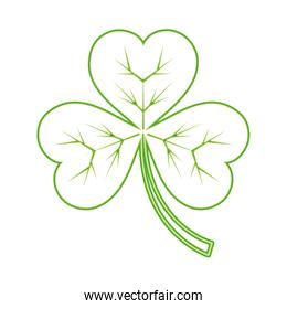 neon line clover plant with nature leaves design