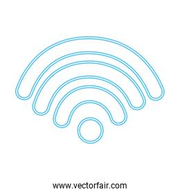 neon line digital wifi connection icon signal