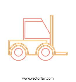 neon line forklift machine vehicule to industry transportation