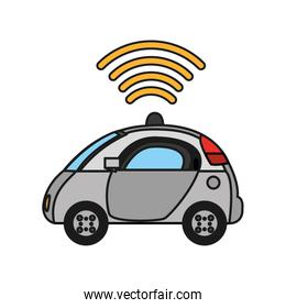 police car with digital wifi connection
