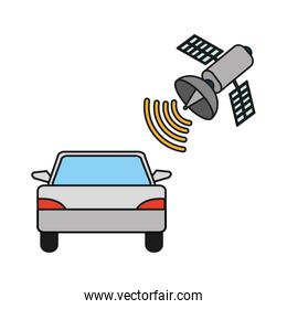 car transportation with satellite global technology